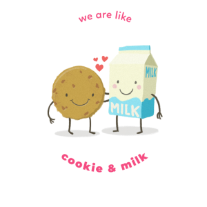 Keks und Milch beste Freunde Liebe Ehepaar