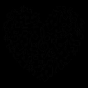 Musik Music Liebe Herz Symbole Geschenk