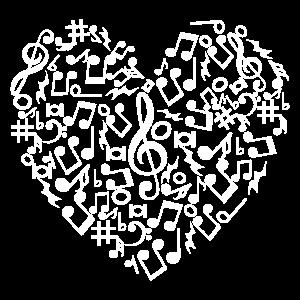 Liebe Herz musikalische Symbole Geschenk