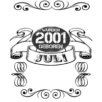 18. Geburtstag geboren in Juli 2001 18 Jahre