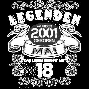 18. Geburtstag Legenden wurden 2001 Mai geboren
