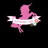 Geburtstags-Mädchen-Einhorn-Party