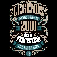 18. Geburtstag Geschenk Jahrgang 2001