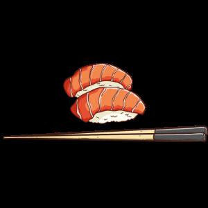 Sushi Japanisch Fisch Stäbchen Geschenk Essen
