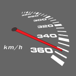 VW Turbo Tacho weiß