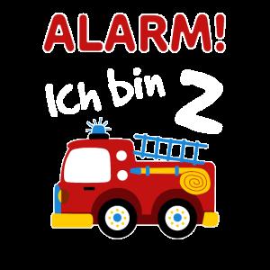 Kinder 2. Geburtstag Shirt Feuerwehrauto Jungen