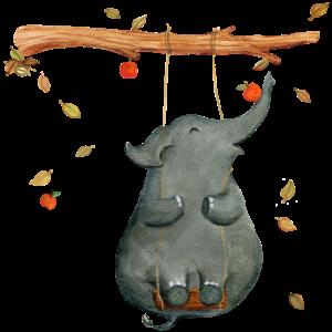 Elefant auf der Schaukel
