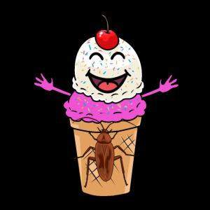 Eiskrem Kakerlake Sommerzeit