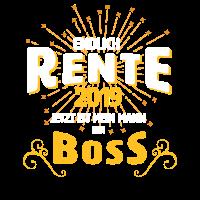 Rente 2019 Mann Boss Abschiedsfeier Geschenk