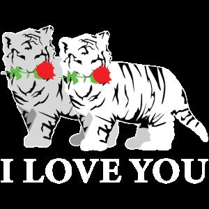 Süße Tiger Katze Großkatze Liebe Dich Geschenk