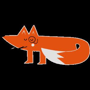 Lustige swag hipster comic fuchs fox
