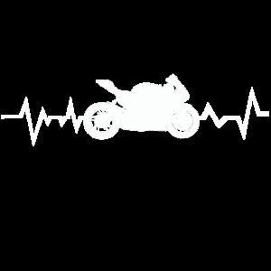 Motorrad Fahrer Herzschlag Heartbeat Herzfrequenz