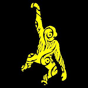 gelber Affe
