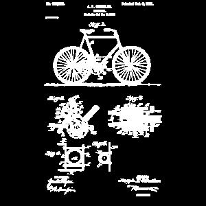 Vintage Patent Print 1900 Fahrrad Radfahren Design