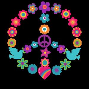 Flower Power Peacezeichen Hippie Friedensbewegung