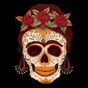 Weiblicher Totenkopf abstrakt
