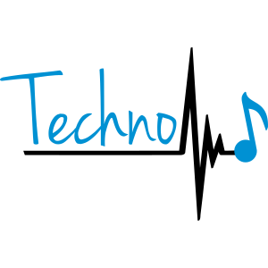 Techno Heartbeat Music Note