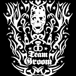 193 Skull Totenkopf Team Groom Tattoo Tribal