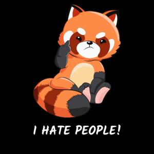 Roter Panda hasse Menschen Pandaliebhaber Geschenk