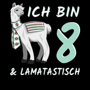 8 Jahre Lama Lamatastisch 8. Geburtstag Geschenk