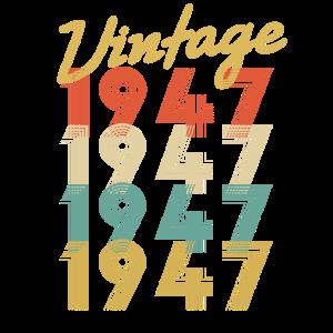 Vintage Retro seit 1947 Geburtstagsgeschenk