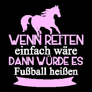 Reiten Mädchen Fußball Lustig
