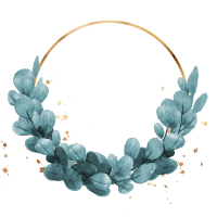 Blue ivy wreath