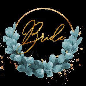 blue ivy wreath bride
