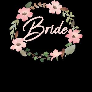 Bride Blumenkranz JGA Hochzeit Braut