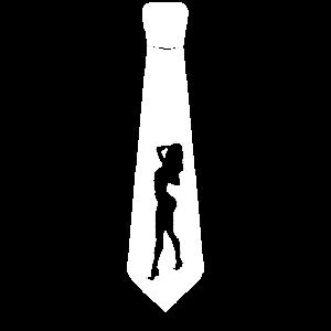 Schlips Kragen Krawatte JGA Striptease Stripperin