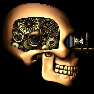Steampunk Automaton / Robot Skull #1 T-Shirt