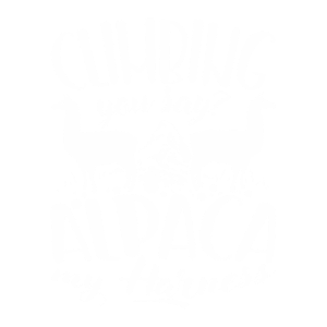 Climbing you say? Alpaca my Harness I Geschenkidee