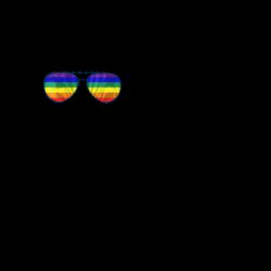 Zebra mit Regenbogen Brille CSD LGBTQ Pride Shirt