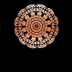 Mandala Ornament Yoga Muster Rosé Gold