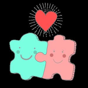 Puzzle Liebe Verlobung und Hochzeit