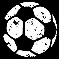Fußball zweifarbig distressed