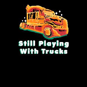 Noch mit Lkw spielend - lustiges Fernlastfahrer-Geschenk