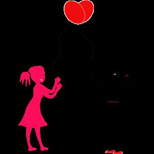 Mädchen Luftballons