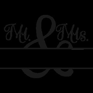 Mr. & Mrs. + Name zu personalisieren