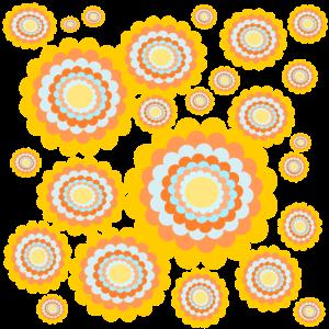 70er Blumenmuster