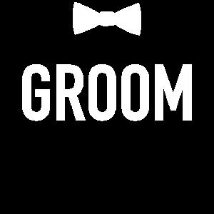 Groom mit Fliege JGA-Team