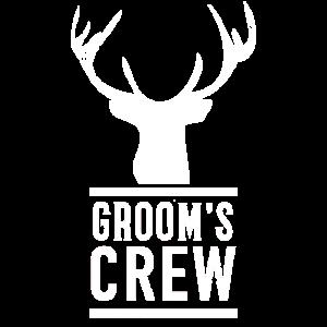 Grooms Crew JGA Hirschgeweih