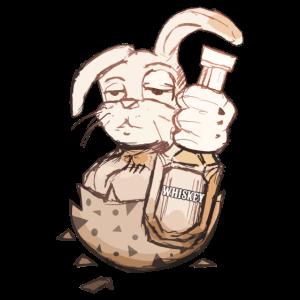 Osterhase mit Whiskey Geschenk zu Ostern lustig