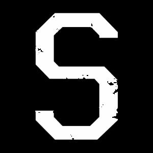 Buchstabe S (Used Look) zweifarbig Schwarz/Weiß