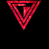 Dreiecke rot Polygone