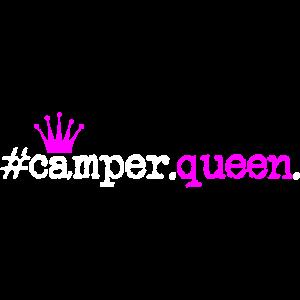 Camper Queen Camping Zelten Königin Krone Idee