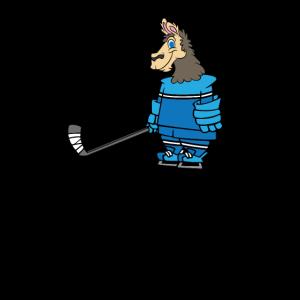 XASTY Lama Hockeyspieler Lustig Alpaka Stark Tier