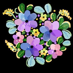 Wasserfarbene Blumenlandschaft