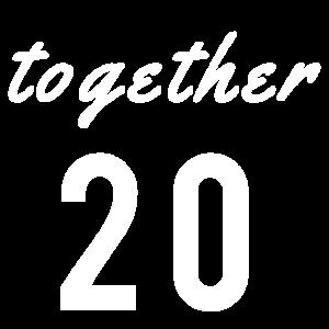 together since 2019 Partnerlook Beziehung Partner
