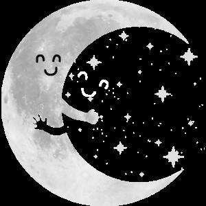 Mond süß Paar Sterne lustig Geschenk